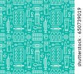 medical  drugstore seamless... | Shutterstock .eps vector #650739019