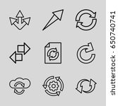 reload icons set. set of 9...