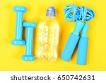 sports equipment with blue... | Shutterstock . vector #650742631