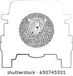 wheel cover   cheetah | Shutterstock .eps vector #650745331