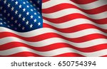 national flag of united states... | Shutterstock .eps vector #650754394