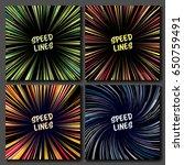 manga speed lines vector set.... | Shutterstock .eps vector #650759491