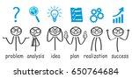 steps decision problem  solving ... | Shutterstock .eps vector #650764684