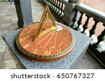 Sundial. Installed Next To The...