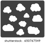 clouds icons on grey background   Shutterstock .eps vector #650767549