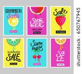 set of summer mobile sale... | Shutterstock .eps vector #650767945