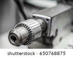 metal part of the bench lathe | Shutterstock . vector #650768875