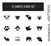 set of 12 editable nature icons....