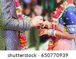 ceremonial in indian wedding ... | Shutterstock . vector #650770939
