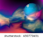 new planet in the universe... | Shutterstock .eps vector #650773651