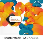 abstract color geometric round... | Shutterstock .eps vector #650778811