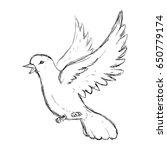 dove bird symbol | Shutterstock .eps vector #650779174