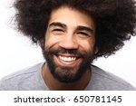 happy afro man | Shutterstock . vector #650781145
