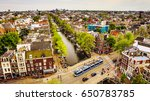 amsterdam city from the top.... | Shutterstock . vector #650783785