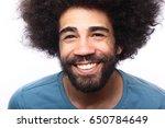happy afro man | Shutterstock . vector #650784649