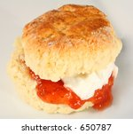 A Scone Filled With Jam And...