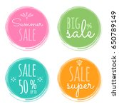 sale vector labels. summer... | Shutterstock .eps vector #650789149