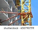 crane and building under... | Shutterstock . vector #650790799