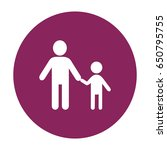 father and son icon | Shutterstock .eps vector #650795755