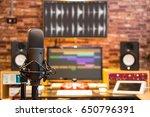 condenser microphone on digital ... | Shutterstock . vector #650796391