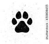 Silhouette Of Dog's Paw In...