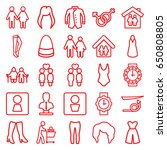 woman icons set. set of 25... | Shutterstock .eps vector #650808805