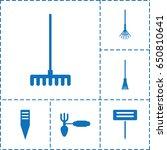 rake icon. set of 6 rake filled ... | Shutterstock .eps vector #650810641