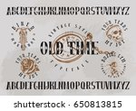 "vintage font named ""old time"" 