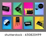 covers with minimal design.... | Shutterstock .eps vector #650820499