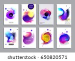 covers with minimal design.... | Shutterstock .eps vector #650820571