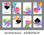covers with minimal design.... | Shutterstock .eps vector #650820619