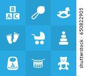 set of 9 child icons set...   Shutterstock .eps vector #650822905