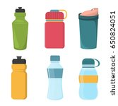 blank bicycle plastic bottle... | Shutterstock .eps vector #650824051