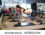 determined women practicing... | Shutterstock . vector #650824144