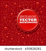 Red Water Drops Background Wit...