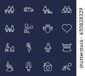 set of 16 people outline icons... | Shutterstock .eps vector #650828329