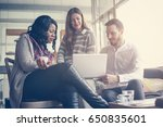 business people. three... | Shutterstock . vector #650835601