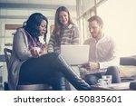 business people. three... | Shutterstock . vector #650835601