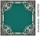 illustration square cutout...   Shutterstock . vector #650837965