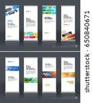 abstract business vector set of ... | Shutterstock .eps vector #650840671
