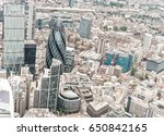 city of london from helicopter. | Shutterstock . vector #650842165