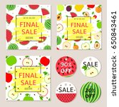 final sale posters  banners ... | Shutterstock .eps vector #650843461