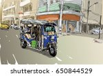 sketch of transportation city...   Shutterstock .eps vector #650844529