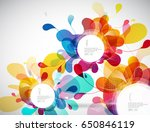 random colorful bubbles with...   Shutterstock .eps vector #650846119