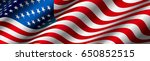 national flag of united states... | Shutterstock .eps vector #650852515