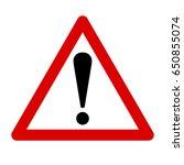 exclamation sign  danger sign | Shutterstock .eps vector #650855074