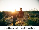 lovers enjoy life and love each ... | Shutterstock . vector #650857375