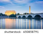 washington dc  usa skyline on... | Shutterstock . vector #650858791