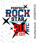 new york perfect rock star t... | Shutterstock .eps vector #650859415