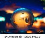 abstract transparent world...   Shutterstock . vector #650859619